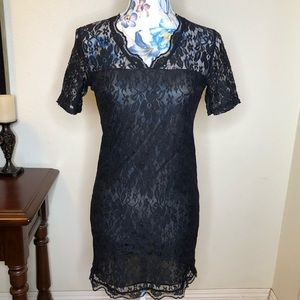 Dresses & Skirts - Mini Lace Dress LBD little black dress